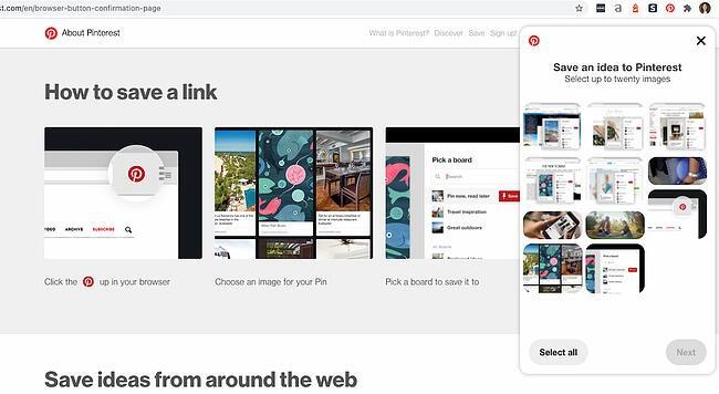 Pinterest Chrome extension