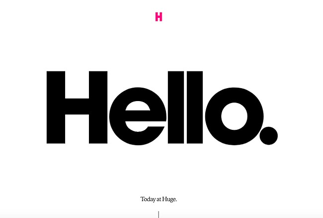 example of the bold typography website design trend