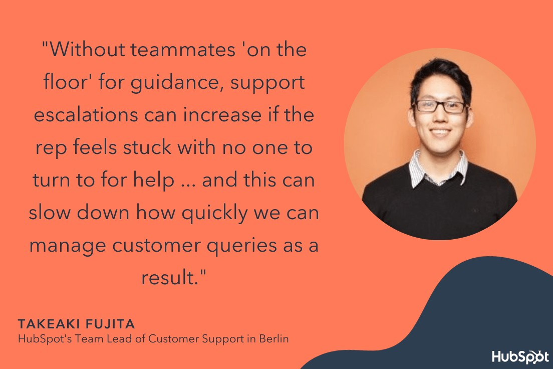 takeaki quote on how covid impacted customer service