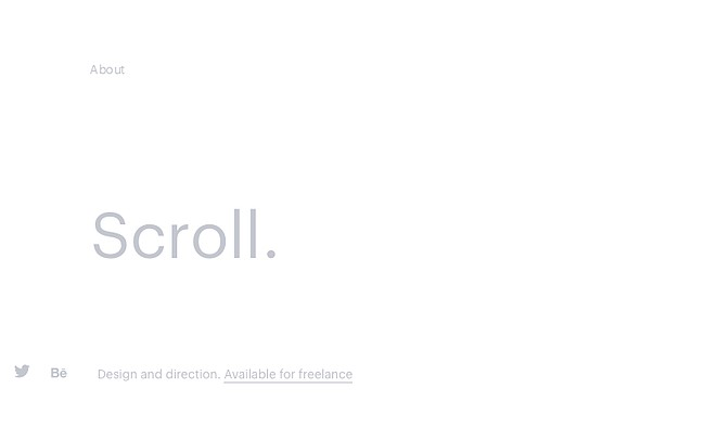 example of the website design trend ultra-minimalism