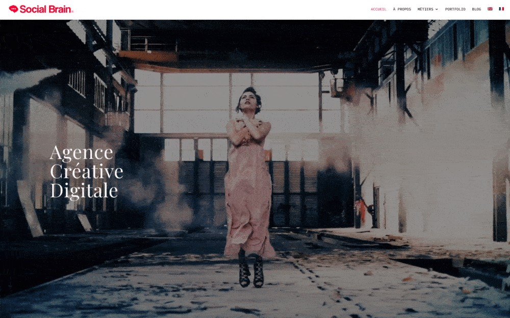 example of the cinemagraph website design trend