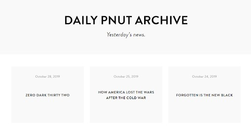 Daily Pnut shares their email archive to encourage new newsletter subscribes