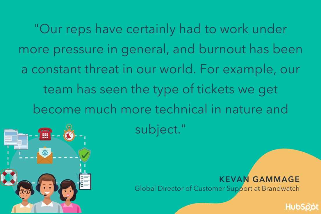 kevan gammage quote on how covid impacted customer service