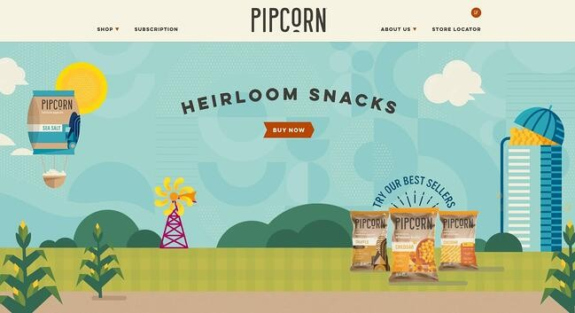 example of the website design trend vivid colors